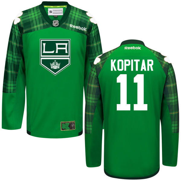 Kings 11 Anze Kopitar Green St. Patrick's Day Reebok Jersey