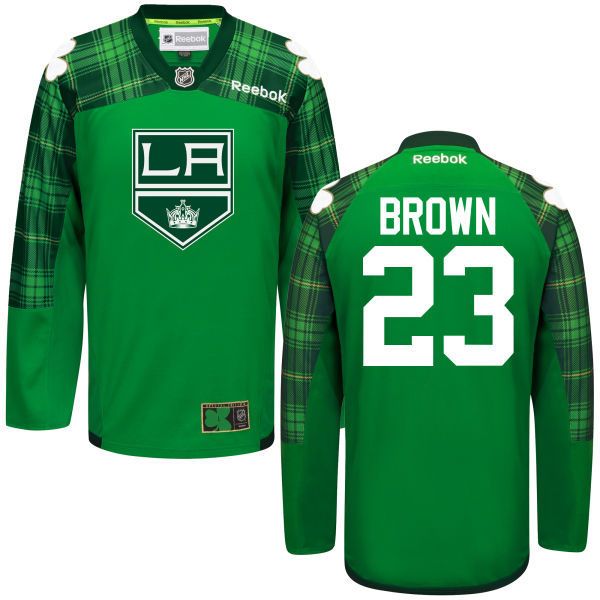 Kings 23 Dustin Brown Green St. Patrick's Day Reebok Jersey