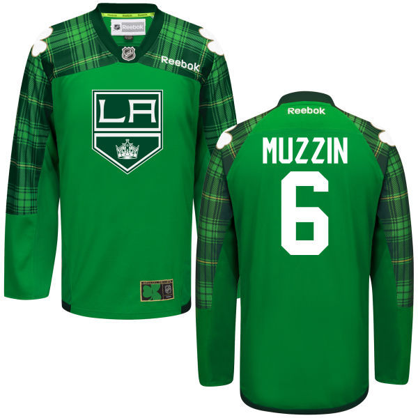 Kings 6 Jake Muzzin Green St. Patrick's Day Reebok Jersey