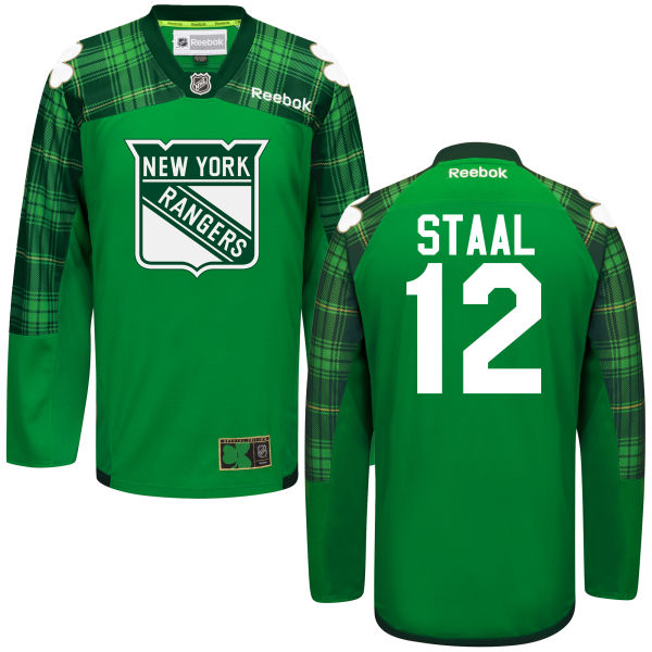 Rangers 12 Marc Staal Green St. Patrick's Day Reebok Jersey