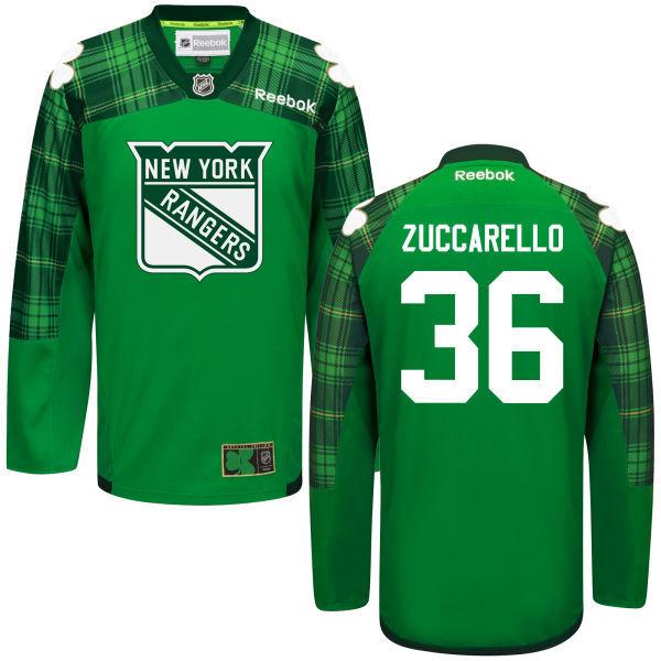 Rangers 36 Mats Zuccarello Green St. Patrick's Day Reebok Jersey