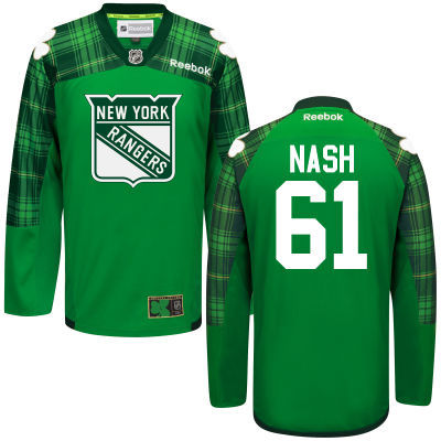Rangers 61 Rick Nash Green St. Patrick's Day Reebok Jersey
