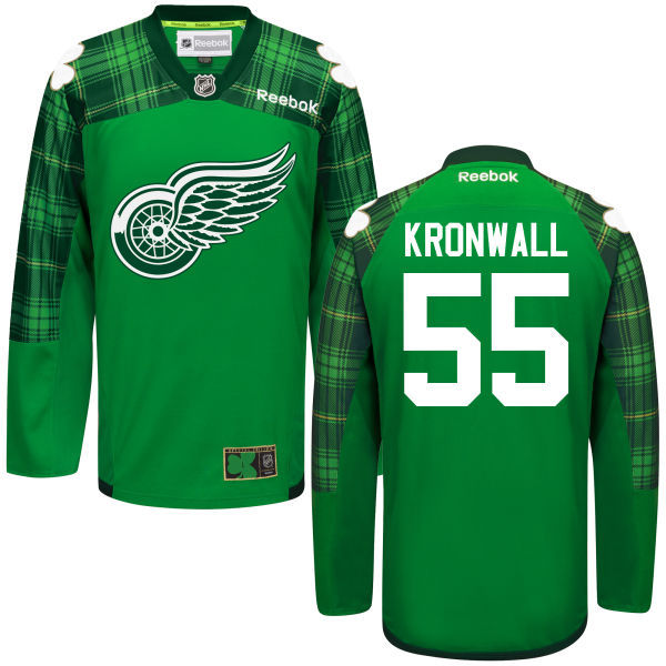Red Wings 55 Niklas Kronwall Green St. Patrick's Day Reebok Jersey