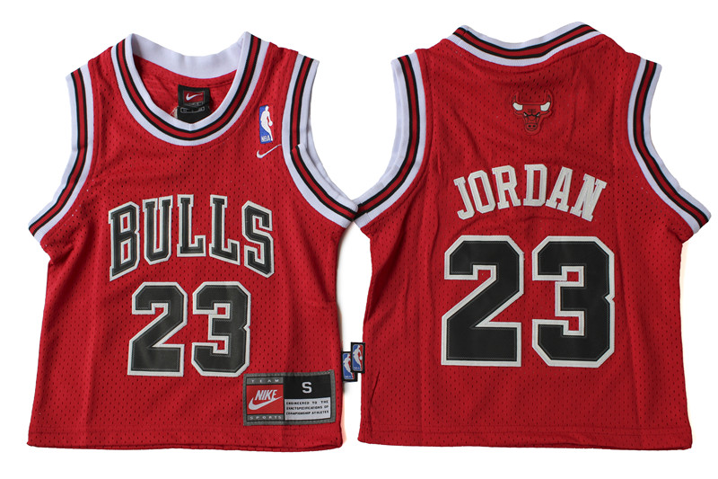 Bulls 23 Michael Jordan Red Toddler Jersey