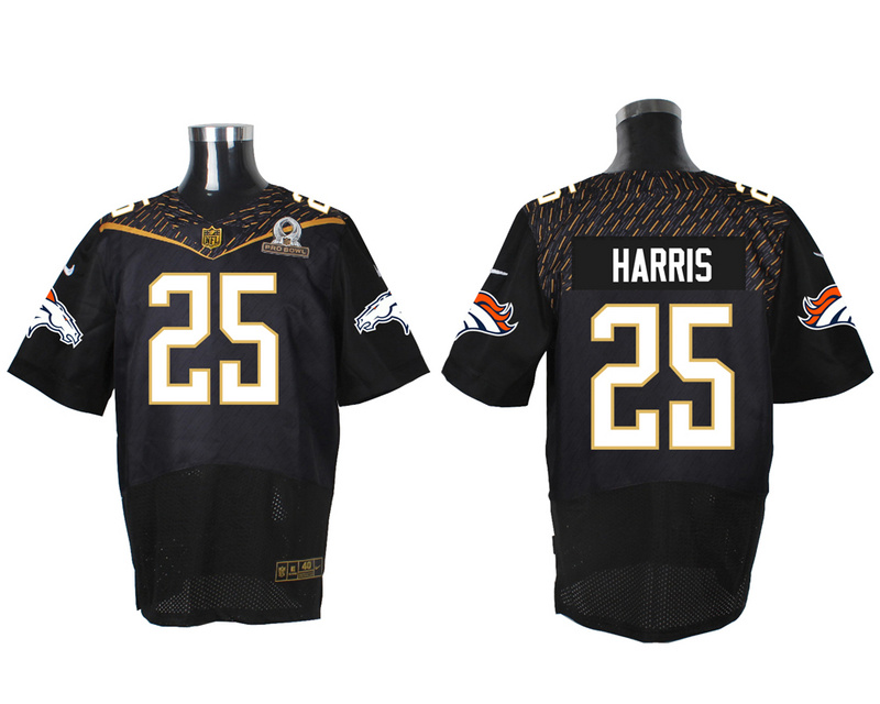 Nike Broncos 25 Chris Harris Jr Black 2016 Pro Bowl Elite Jersey
