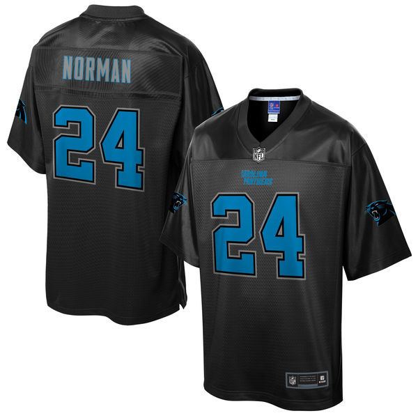 Panthers 24 Josh Norman Pro Line Black Reverse Fashion Jersey