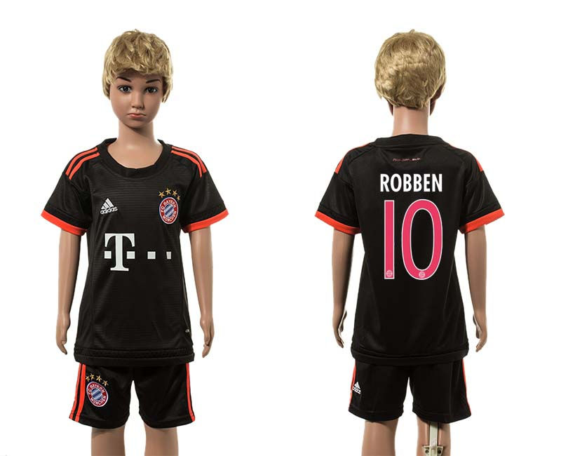 2015-16 Paris Saint-Germain 10 ROBBEN Third Away Youth Jersey