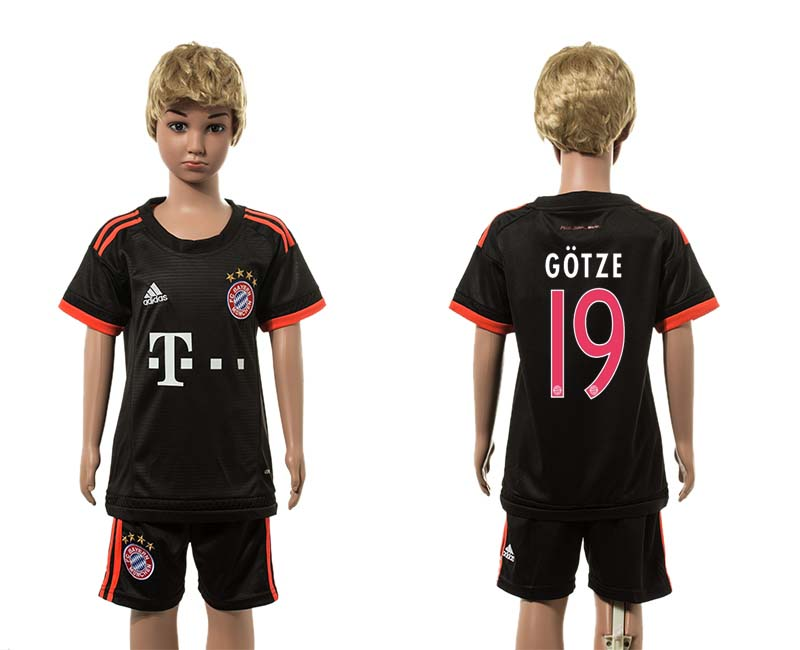 2015-16 Paris Saint-Germain 19 GOTZE Third Away Youth Jersey