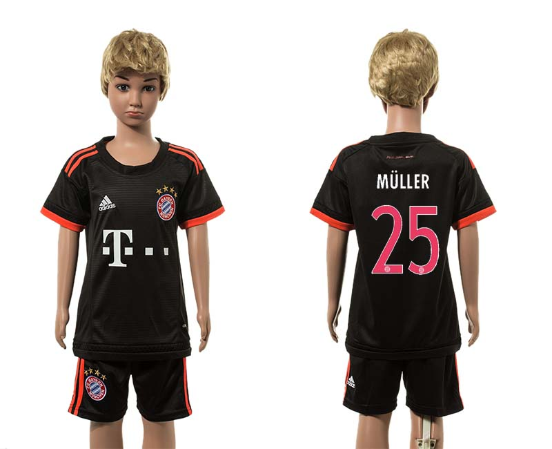 2015-16 Paris Saint-Germain 25 MULLER Third Away Youth Jersey