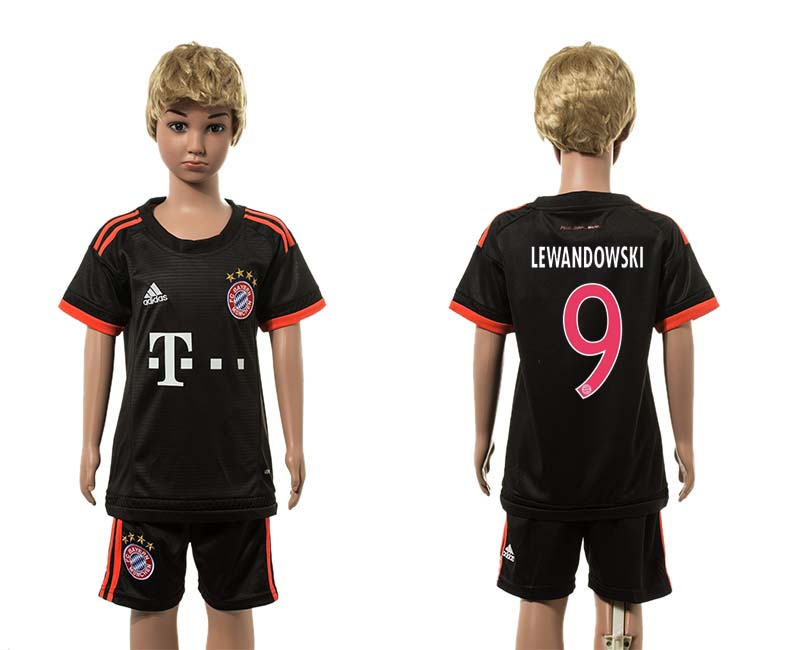 2015-16 Paris Saint-Germain 9 LEWANDOWSKI Third Away Youth Jersey
