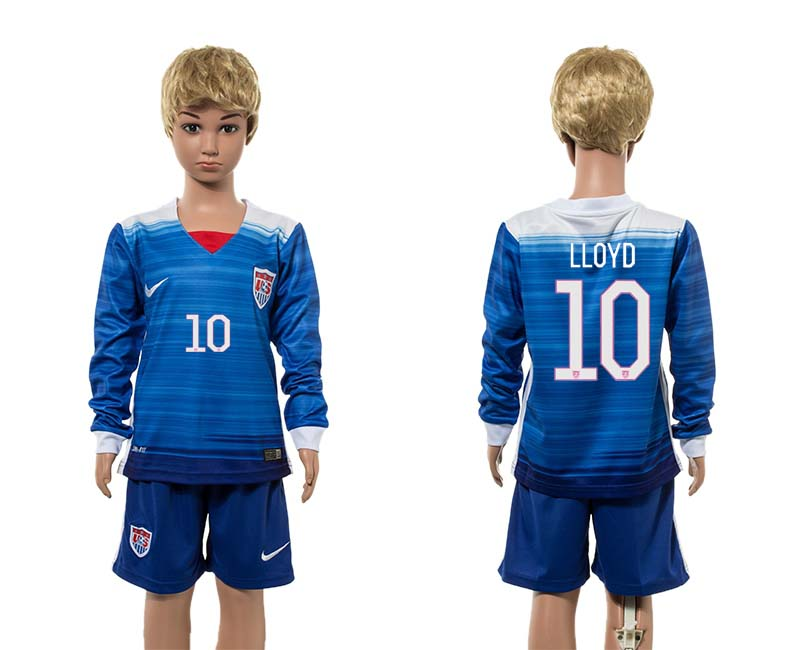 2015-16 USA 10 LLOYD Away Youth Jersey