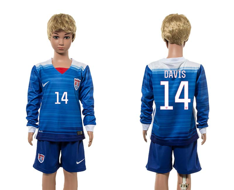 2015-16 USA 14 DAVIS Away Youth Jersey