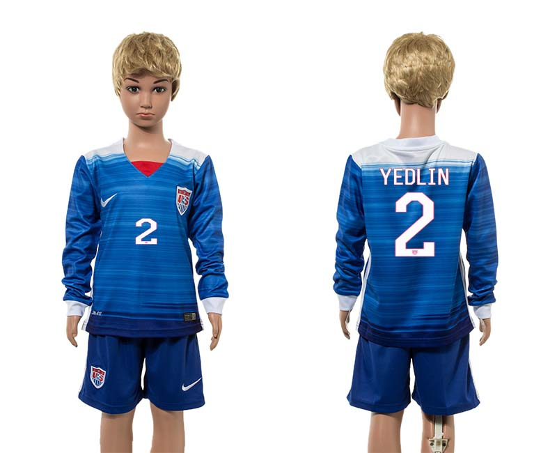 2015-16 USA 2 YEDLIN Away Youth Jersey