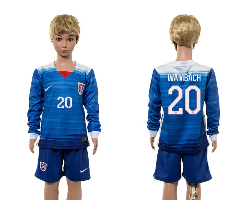 2015-16 USA 20 WAMBACH Away Youth Jersey