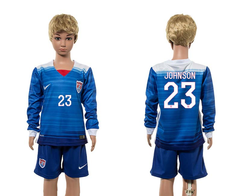 2015-16 USA 23 JOHNSON Away Youth Jersey