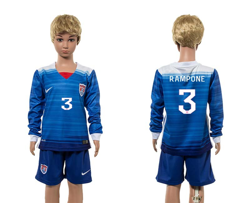 2015-16 USA 3 RAMPONE Away Youth Jersey