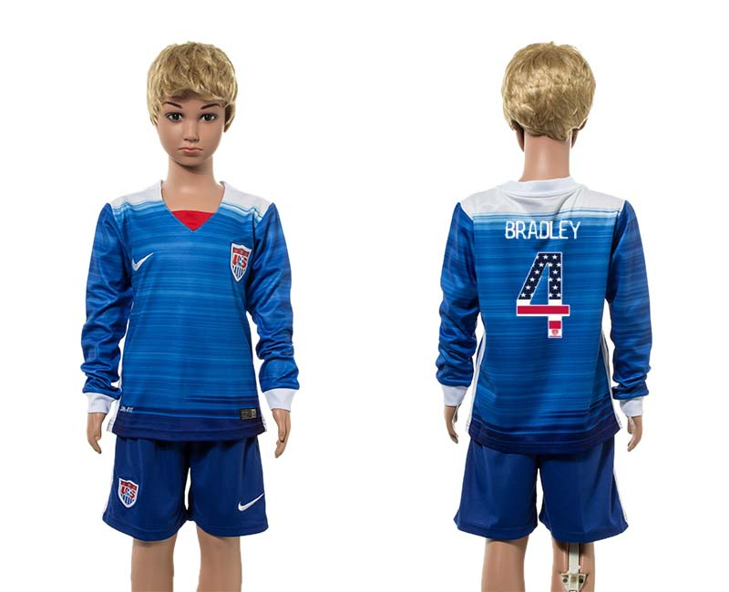 2015-16 USA 7 BRADLEY Away Youth Independence Day Jersey