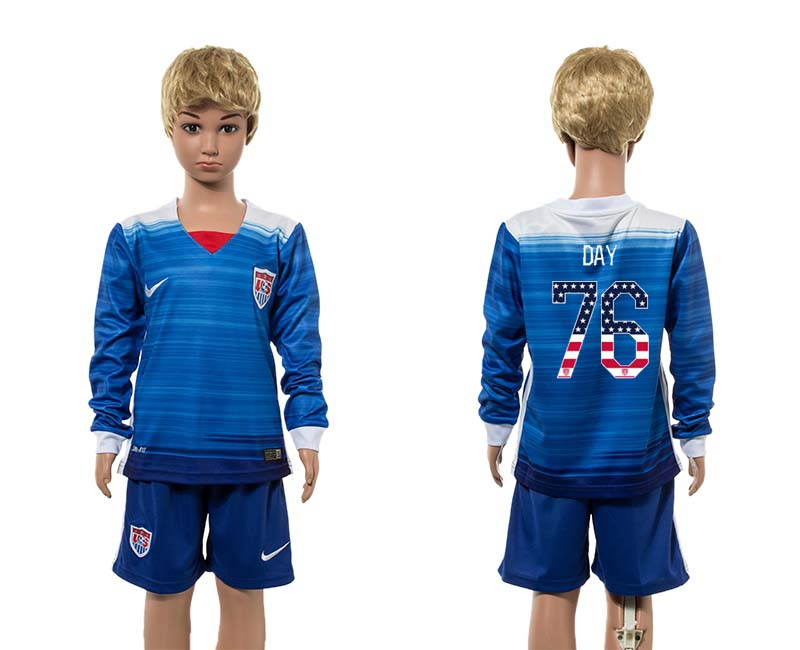 2015-16 USA 76 DAY Away Youth Independence Day Jersey