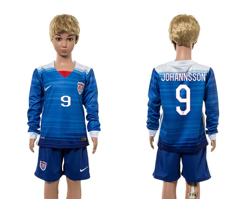 2015-16 USA 9 JOHANNSSON Away Youth Jersey
