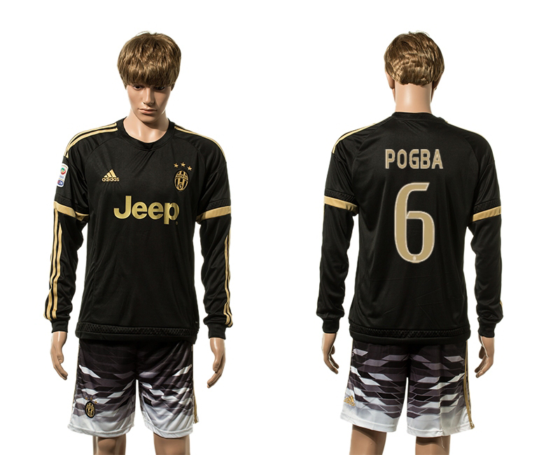 2015-16 Juventus 6 POGBA Third Away Long Sleeve Jersey