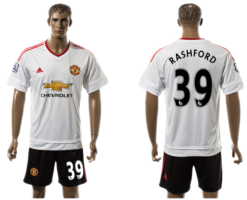 2015-16 Manchester United 39 RASHFORD Away Jersey