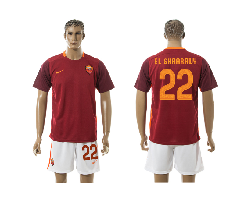 2015-16 Roma 22 EL SHAARAWY Home Jersey
