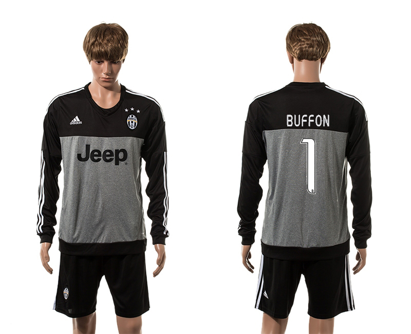 2015-16 Juventus 1 BUFFON Goalkeeper Long Sleeve Jersey