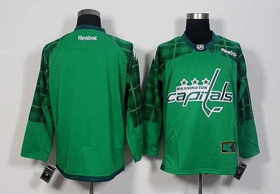 Capitals Blank Green St. Patrick's Day Reebok Jersey