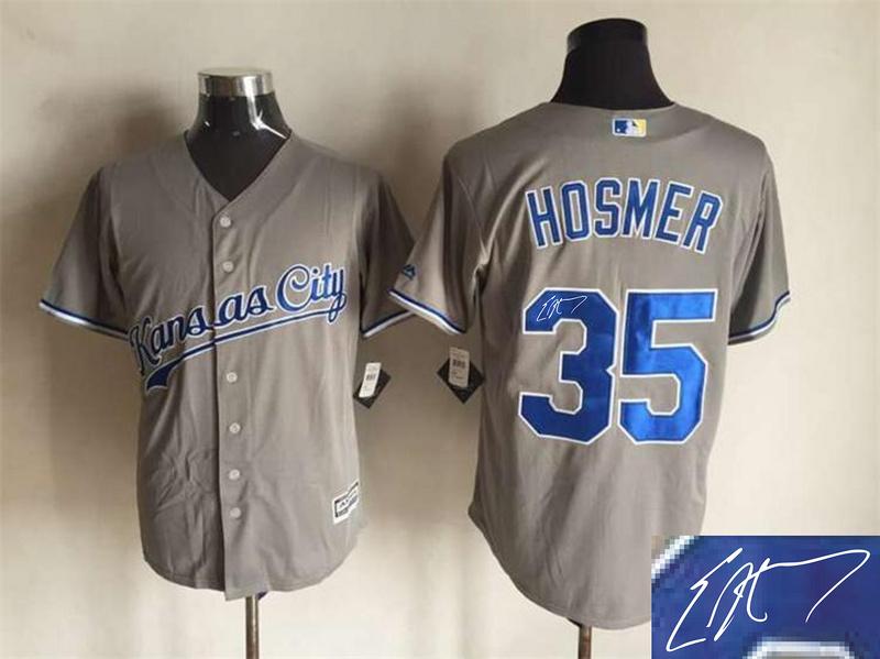 Royals 35 Eric Hosmer Grey Signature Edition New Cool Base Jersey