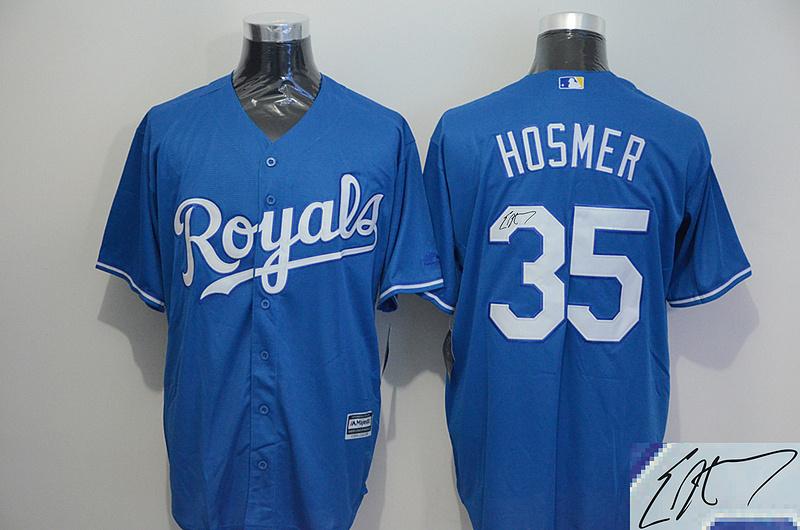Royals 35 Eric Hosmer Light Blue Signature Edition New Cool Base Jersey
