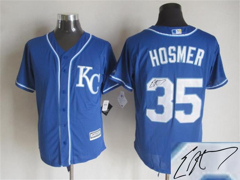 Royals 35 Eric Hosmer Royal Blue Signature Edition New Cool Base Jersey