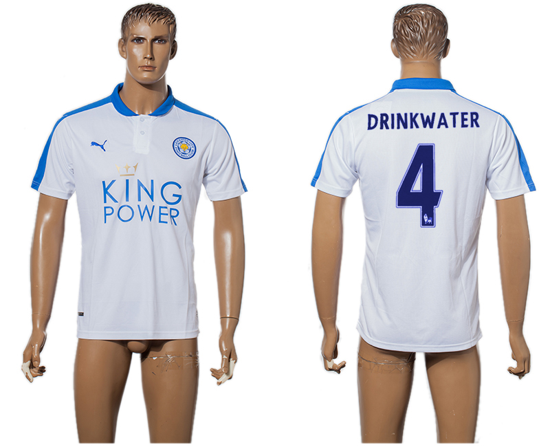 2015-16 Leicester City 4 DRINKWATER Third Away Thailand Soccer Jersey