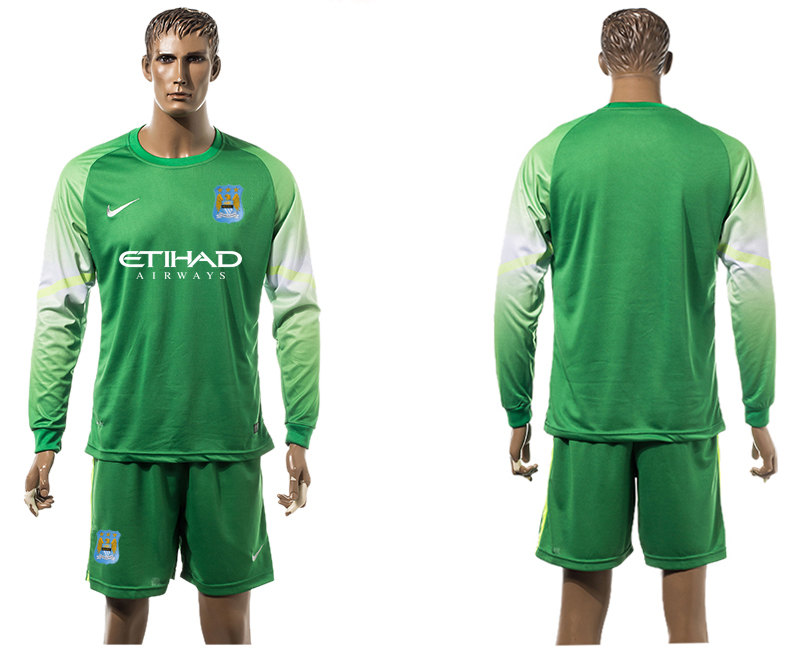 2015-16 Manchester City Goalkeeper Long Sleeve Soccer Jersey