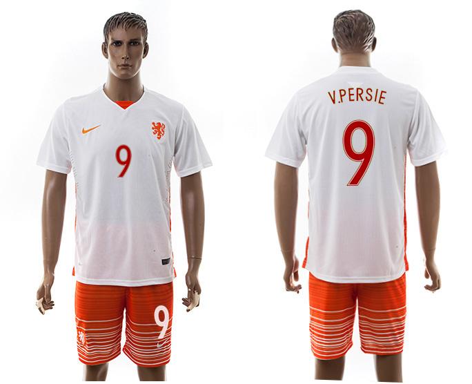 2016-17 Netherlands 9 V.PERSIE Away Soccer Jersey