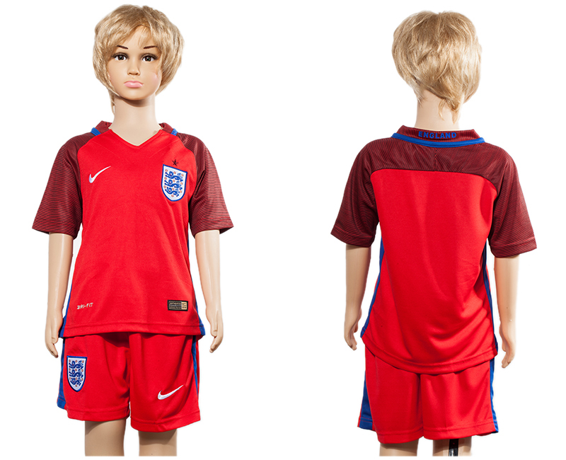 England Away Youth UEFA Euro 2016 Soccer Jersey
