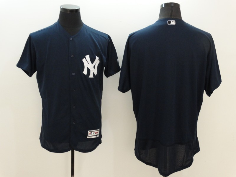 Yankees Blank Navy Flexbase Jersey