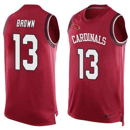 Nike Cardinals 13 Jaron Brown Red Player Name & Number Tank Top
