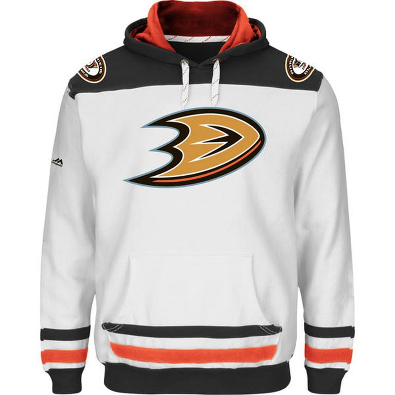 Ducks White Men's Customized All Stitched Sweatshirt
