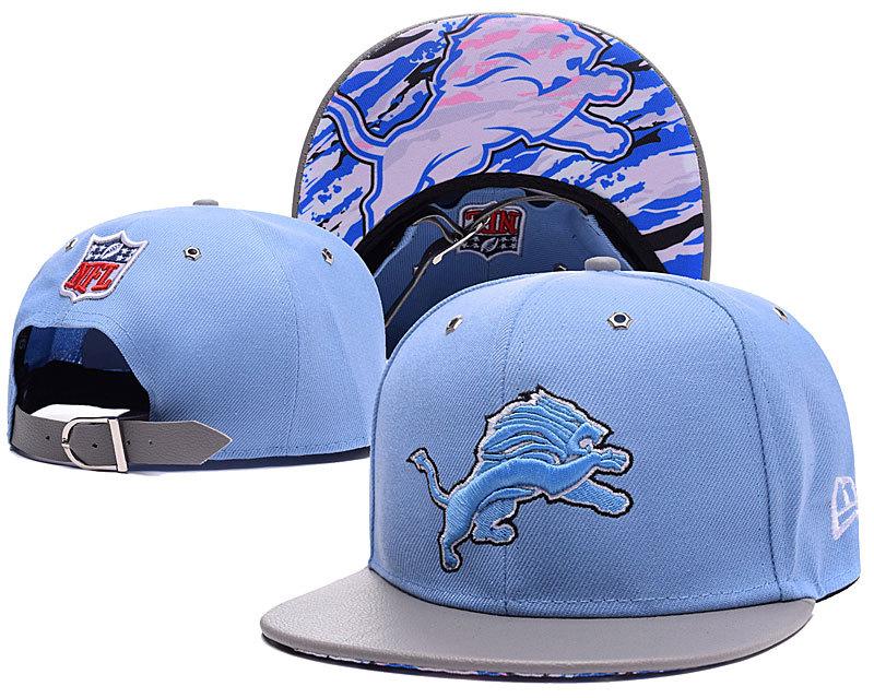Lions Team Logo Blue Adjustable Hat SD