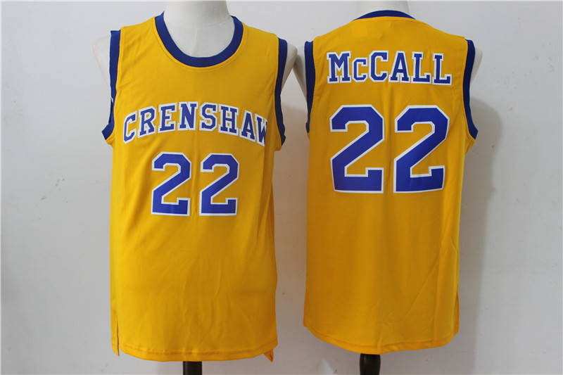 Crenshaw 22 McCall Gold Stitched Movie Jersey