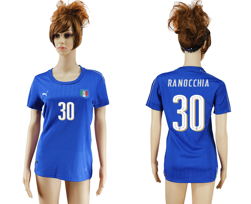 Italy 30 RANOCCHIA Home Women UEFA Euro 2016 Soccer Jersey