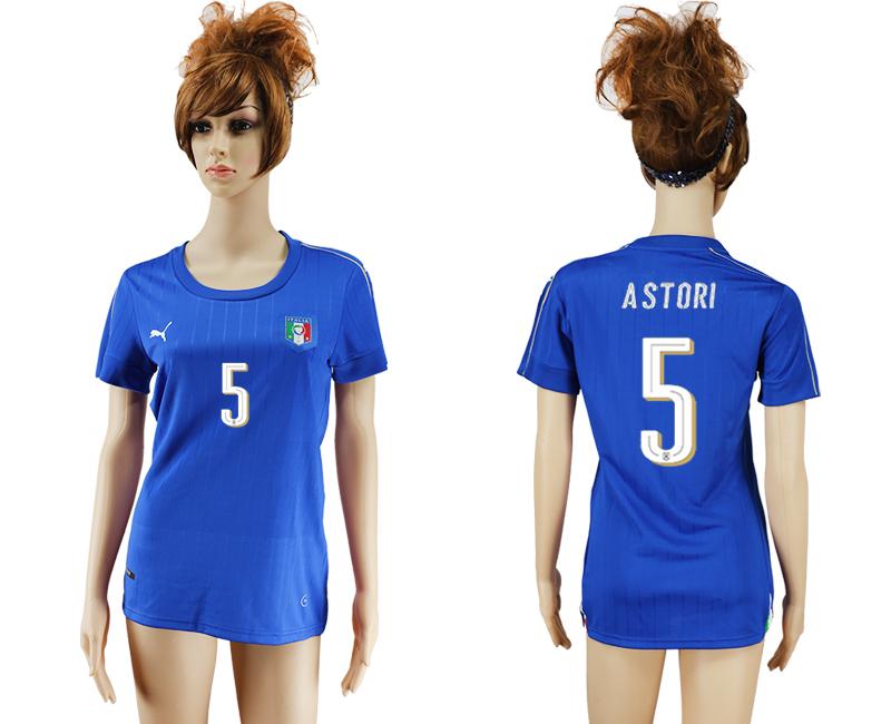 Italy 5 ASTORI Home Women UEFA Euro 2016 Soccer Jersey