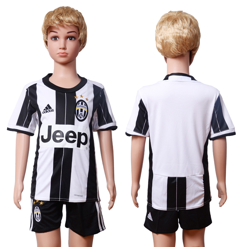 2016-17 Juventus Home Youth Soccer Jersey