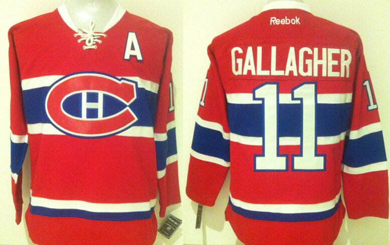 Canadiens 11 Brendan Gallagher Red Reebok Jersey