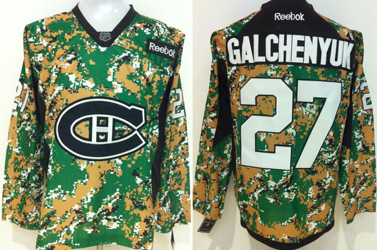 Canadiens 27 Alex Galchenyuk Digital Camo Veteran's Day Reebok Jersey