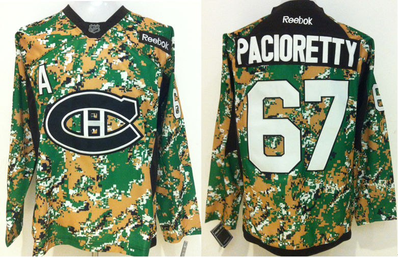 Canadiens 67 Max Pacioretty Digital Camo Veteran's Day Reebok Jersey