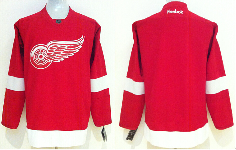 Red Wings Blank Red Reebok Jersey