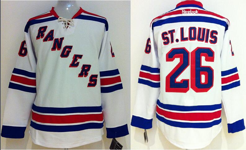 Rangers 26 Martin St.Louis White Reebok Jersey