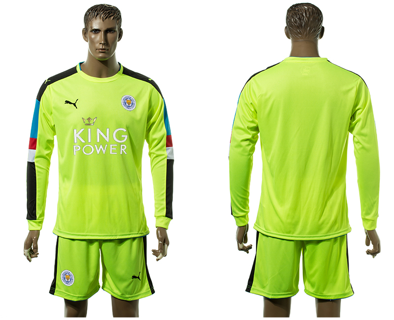 2015-16 Leicester City Green Goalkeeper Jersey