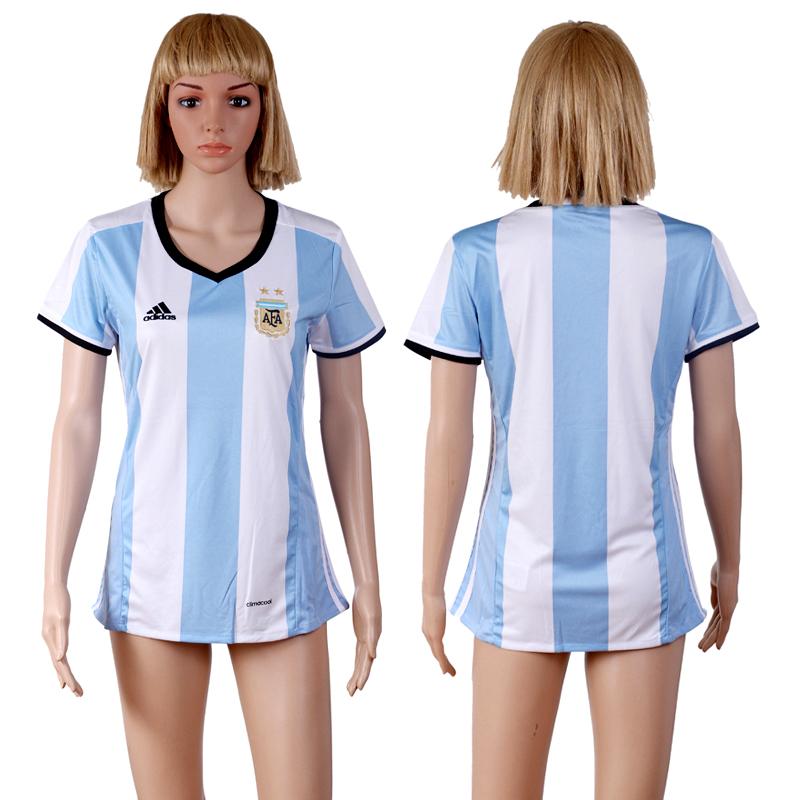 Argentina Home Women 2016 Copa America Centenario Soccer Jersey